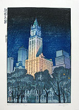 Paul Binnie, New York Night, woodblock print