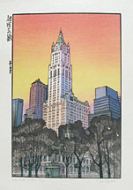Paul Binnie, New York Sunset, woodblock print