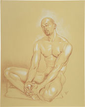 Paul Binnie Male Nude Study (Nap) preparatory drawing