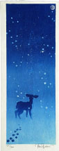 Paul Binnie Deer in the Snow