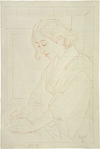 Paul Binnie Votes for Women preparatory drawing (scaled to siz…
