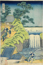 Hokusai, Aoigaoka Waterfall in Edo