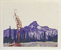 Walter Joseph Phillips Mont Cathedral from Lake O�Hara (British Columbia)
