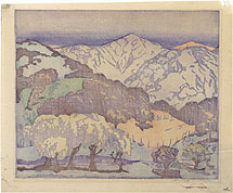 Anders Gustave Aldrin California Hills - lighter palette; monoprint