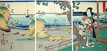 Toyokuni and Hiroshige triptych