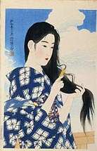 Ito Shinsui After Washing her Hair