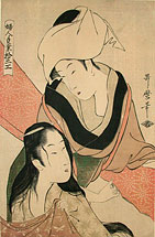 Kitagawa Utamaro Cloth-Stretcher