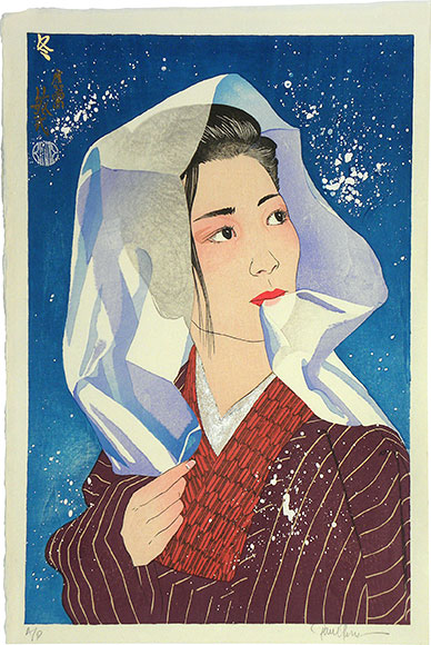 Paul Binnie, Winter, woodblock print