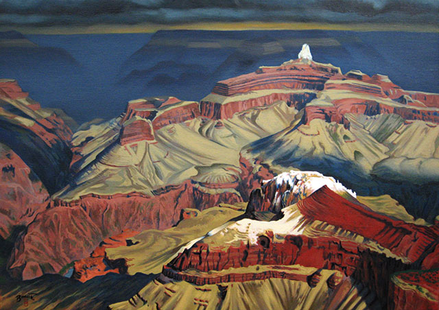 Paul Binnie, Grand Canyon, oil on canvas, 2010