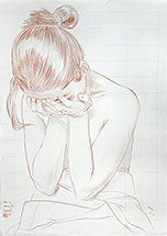 Paul Binnie, morning tears, original drawing