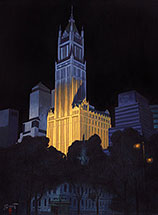 Paul Binnie, New York Night, oil on canvas, 2010