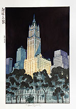 Paul Binnie, New York Night, watercolor