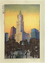Paul Binnie, New York Sunset, proof