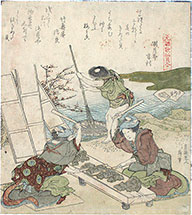 Hokusai, The Fulling Block Shell