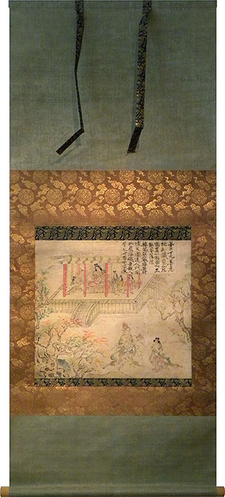 14th century Japanese scroll painting