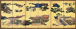 18th century Tale of Genji screen