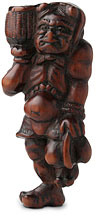 wood oni netsuke