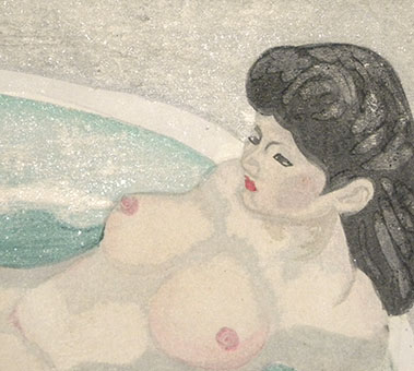 Junichiro Sekino, Nude in Bath, detail