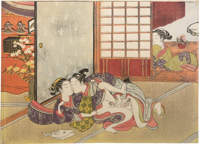Suzuki Harunobu, Spying on a Young Couple