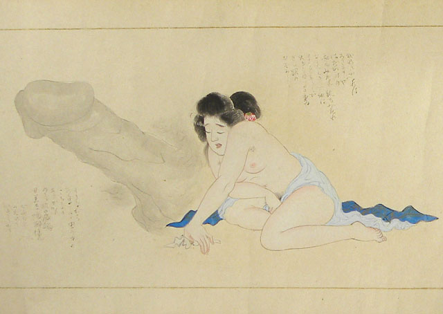 erotic scroll painting, ghost