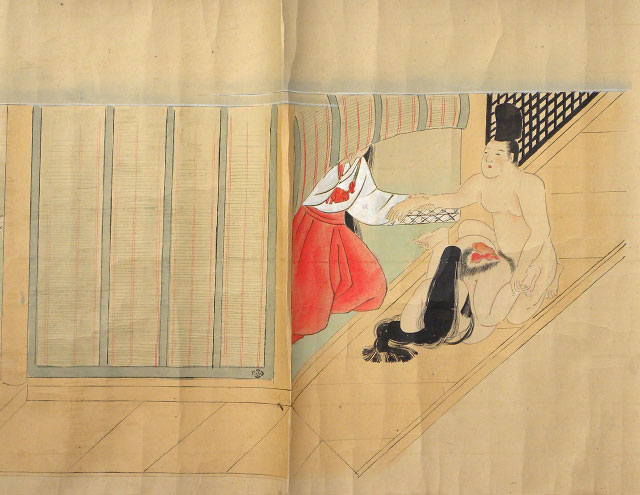 shunga scroll painting