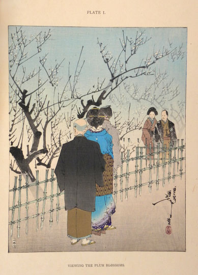 VIEWING THE PLUM BLOSSOMS